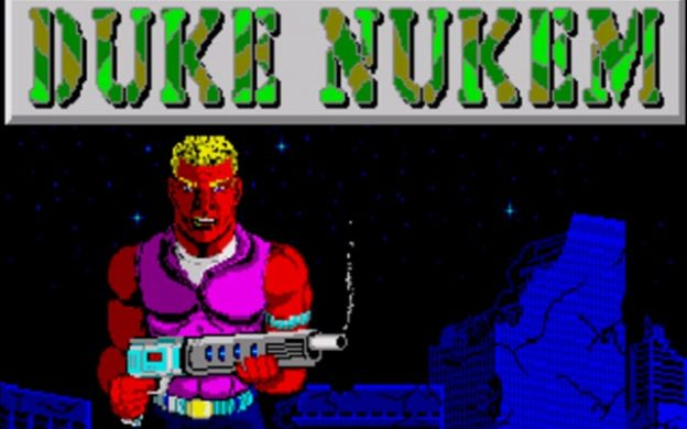 Title screen for the original Duke Nukem computer game, by Apogee