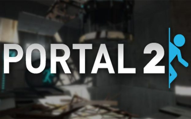 Portal 2 title, a video game by Valve