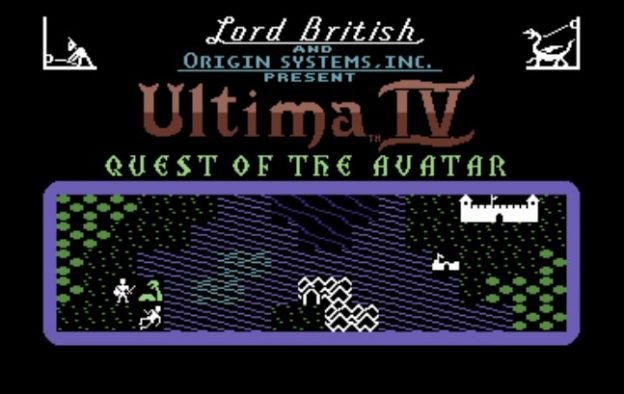 Title screen for Ultima IV: Quest of the Avatar, a computer RPG by Origin and Lord British
