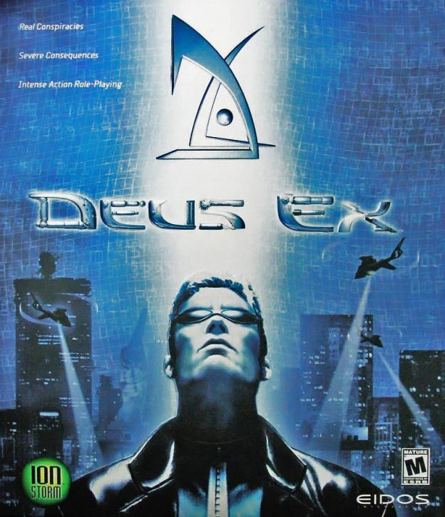 Box art for Deus Ex, a computer video game by Ion Storm and Eidos