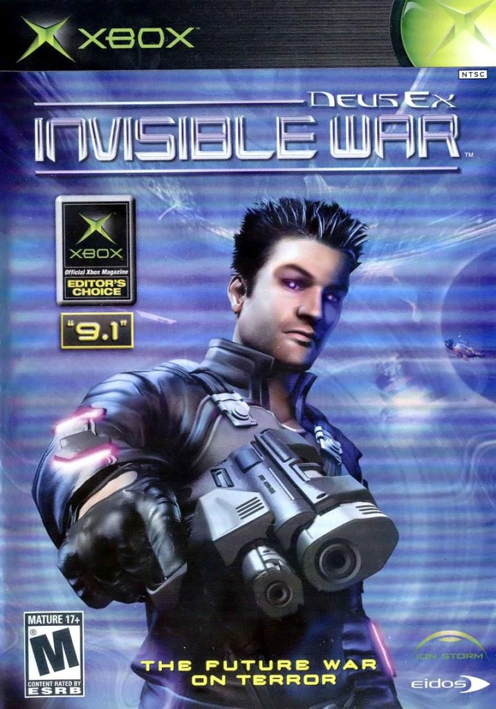 Deus Ex: Invisible War, a video game for the Xbox
