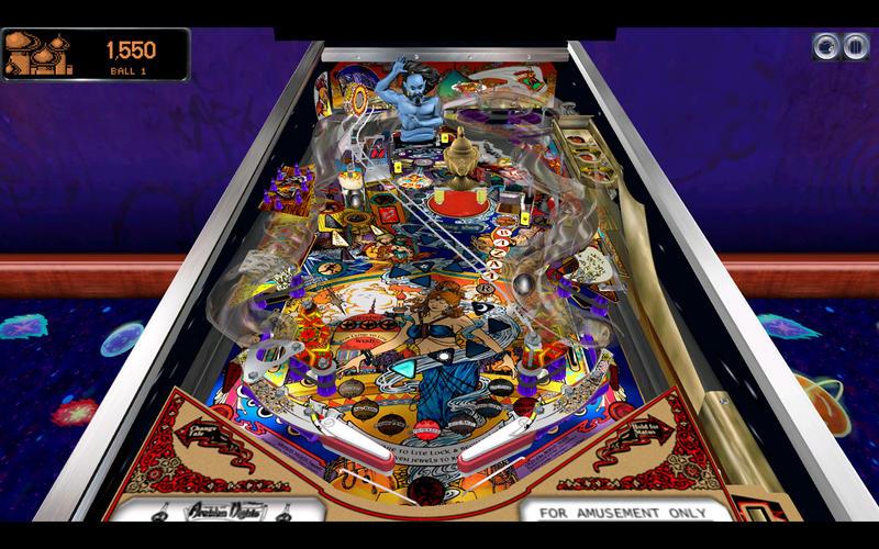Pinball Arcade, a virtual pinball app for Apple iOS