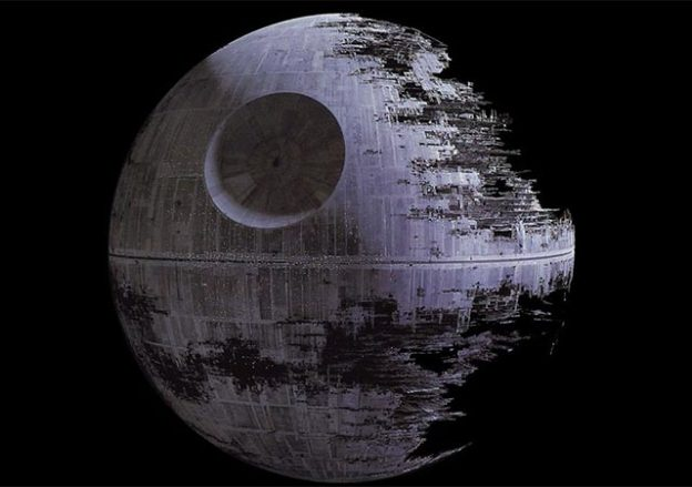 The Death Star from the SF movie Star Wars