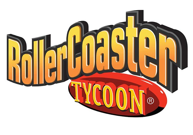 Logo for Rollercoaster Tycoon, a computer video game by Atari