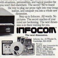 Ad for Infocom, a computer game company, 1983