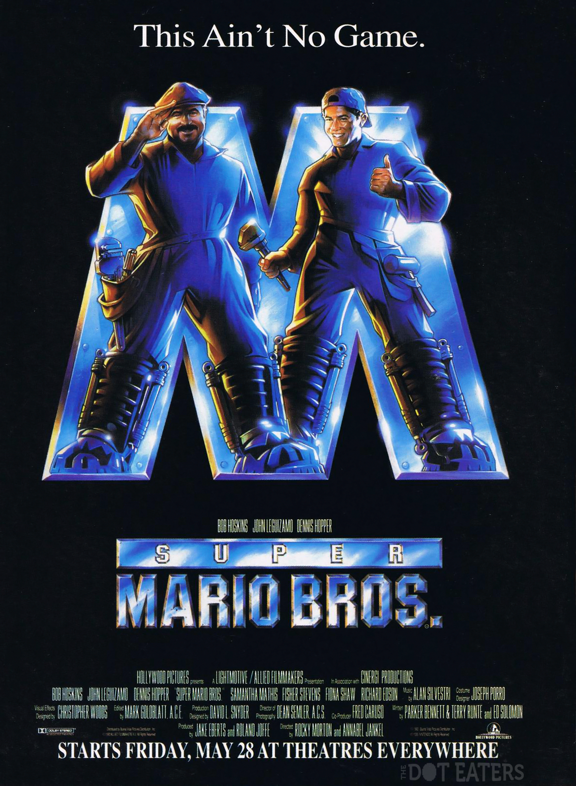 Poster for Super Mario Bros., a 1993 movie by Hollywood Pictures (Disney)