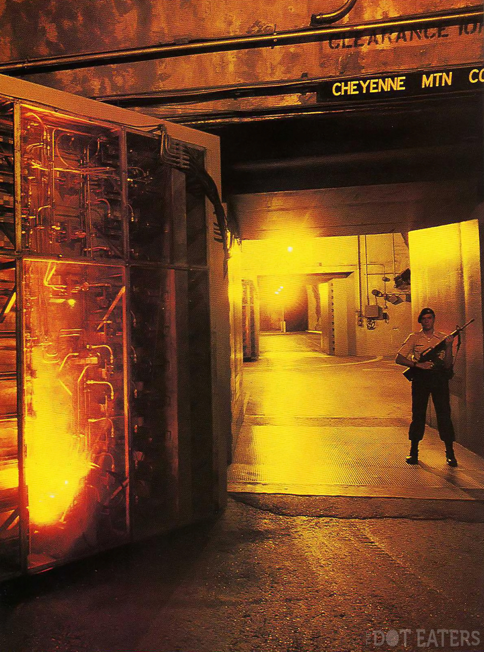 Two blast doors from the NORAD Cheyenne Mountain facility, 1986