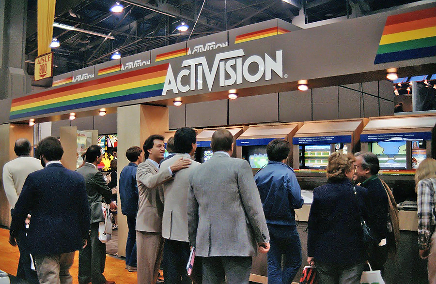 Image of January 1984 CES booth for Activision, a video game company