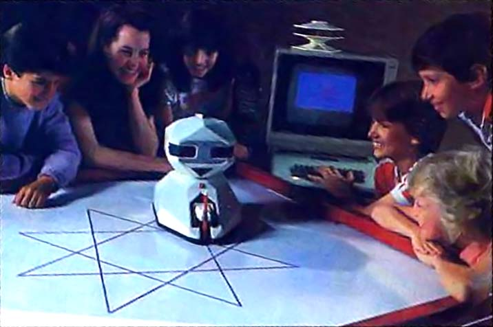 F.R.E.D., a home robot by Axlon, founded by Nolan Bushnell, creator of the Atari video game company