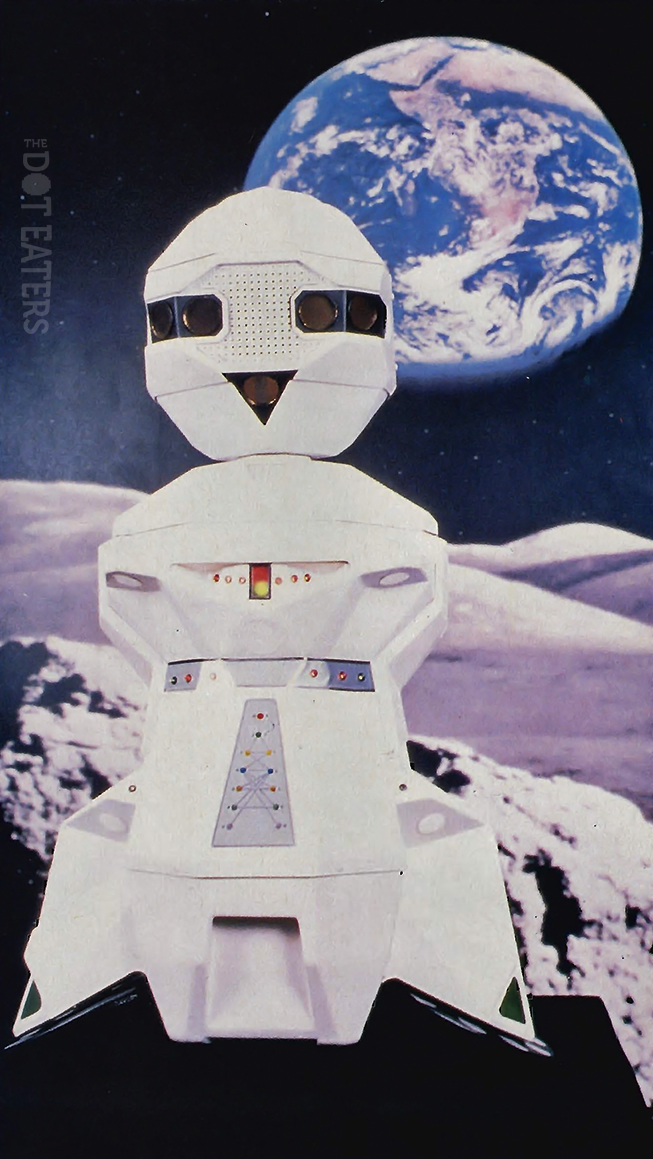 B.O.B., a home robot devised by video game pioneer Nolan Bushnell, 1983