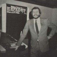 Atari founder Nolan Bushnell and Snake Pit, a video game by Sente