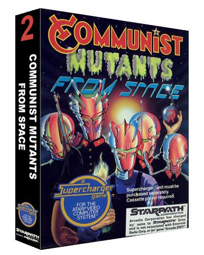 Communist Mutants from Space, a video game for the SuperCharger addon for the Atari 2600 video game system