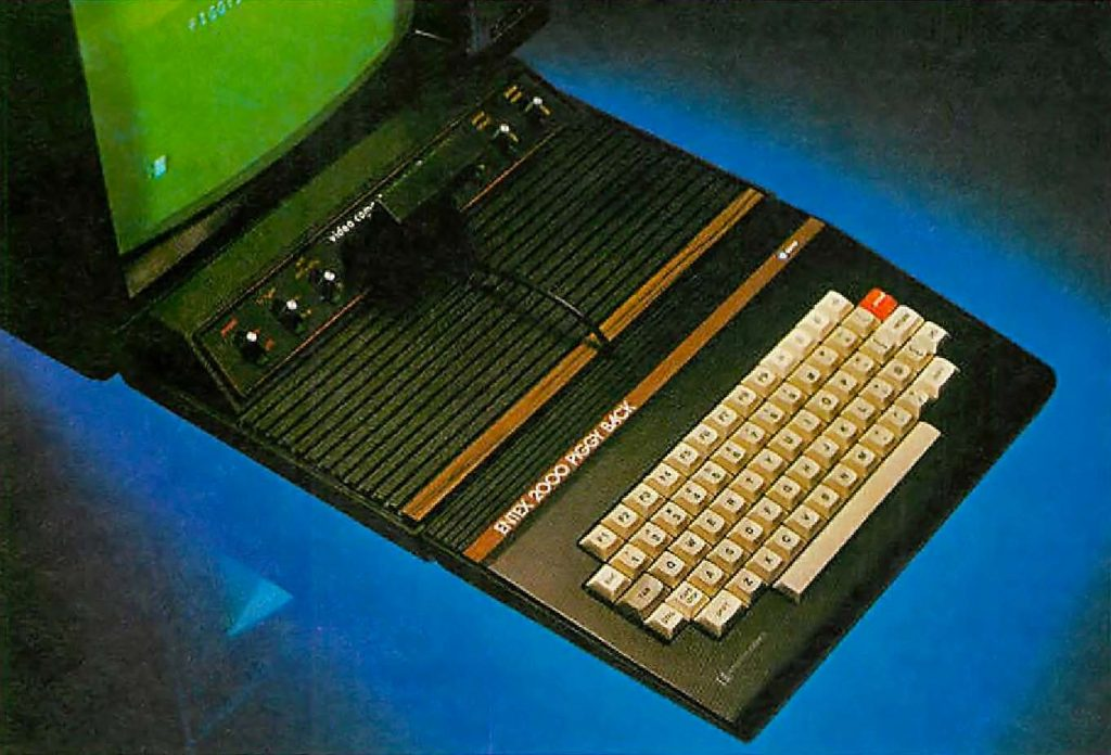 Entex 2000 Piggy Back, a computer add-on for the Atari 2600 video game console