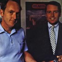 Photo of programmer Dennis Koble and president Bill Grubb, of video game company Imagic 1982