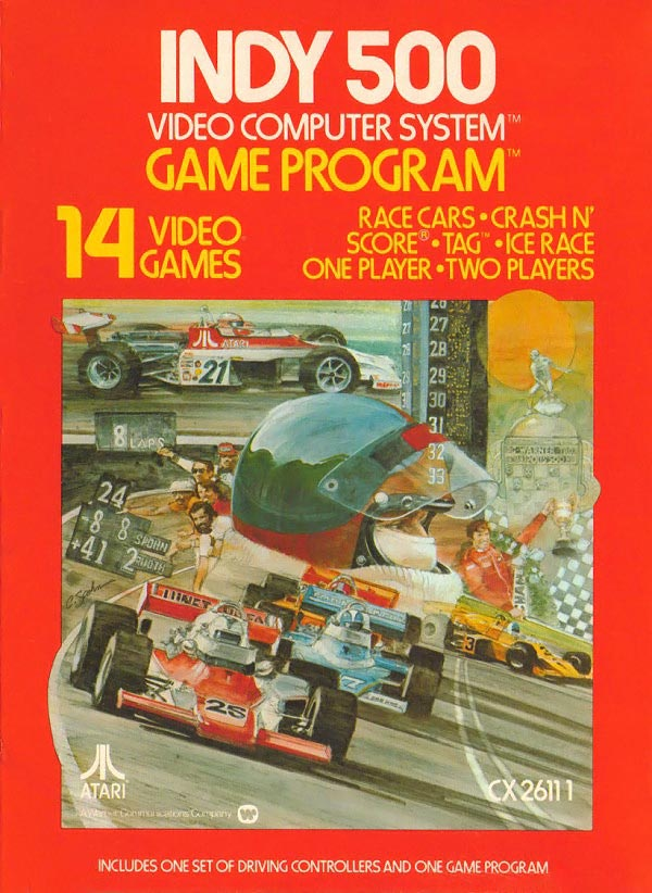 Indy 500, a game for the Atari VCS, a home video game console