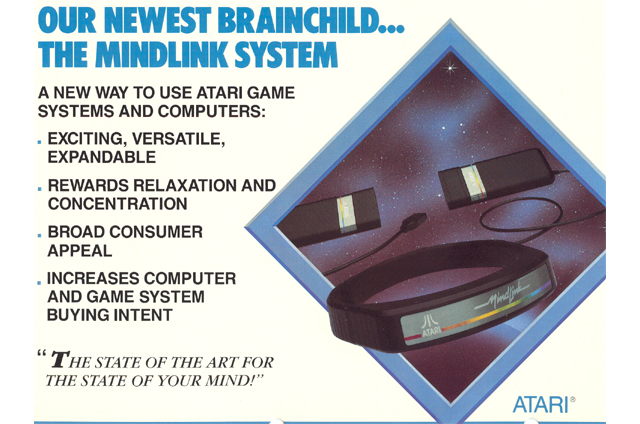 Mindlink, a peripheral for the Atari 2600 video game system.