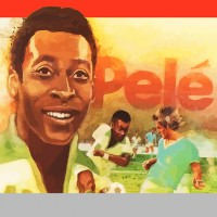 Box art for Pele's Soccer, a home video game for the VCS/2600 by Atari 1980