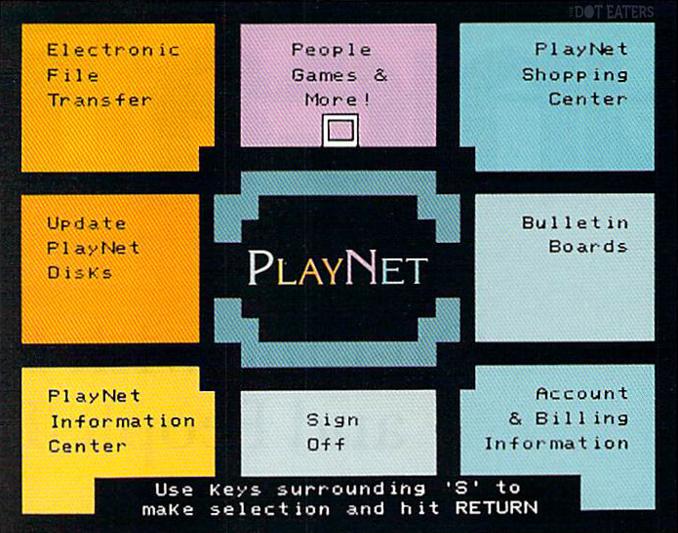 UI for the PlayNet online service, which would be licensed by QuantumLink