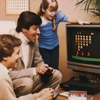 Promo shot for the Atari 2600 video game system