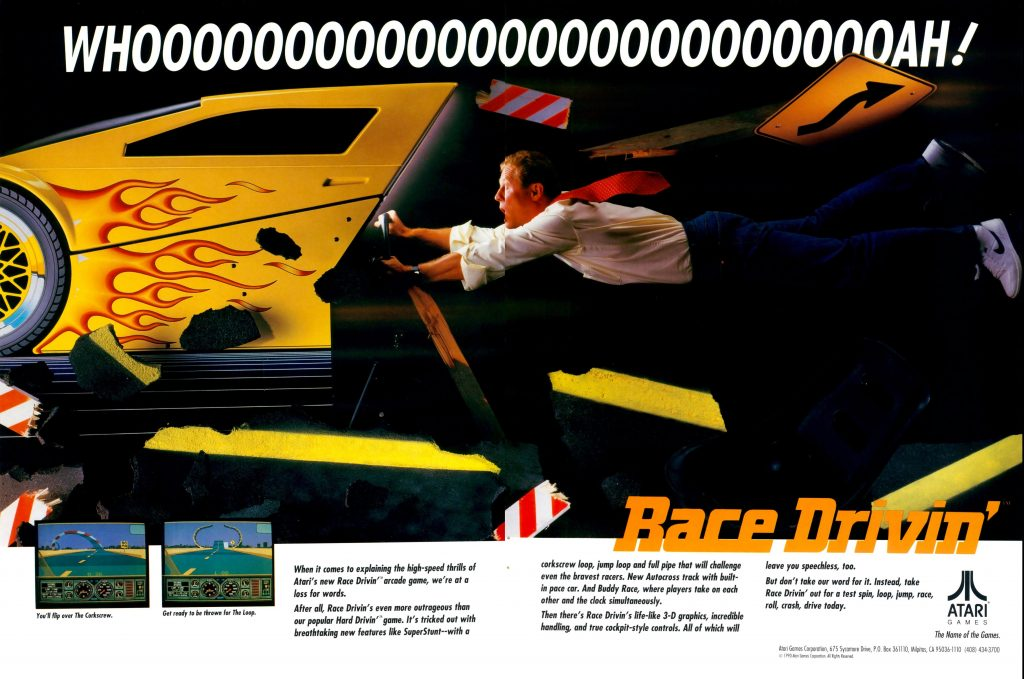 Race Drivin' arcade video game by Atari Games