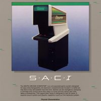 SAC-I, an interchangeable video arcade game system by Bally Sente