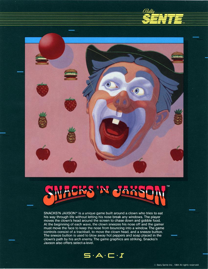 Snacks'N Jaxon, an arcade video game by Bally Sente