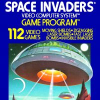 Space Invaders, a game for the Atari VCS home video game system