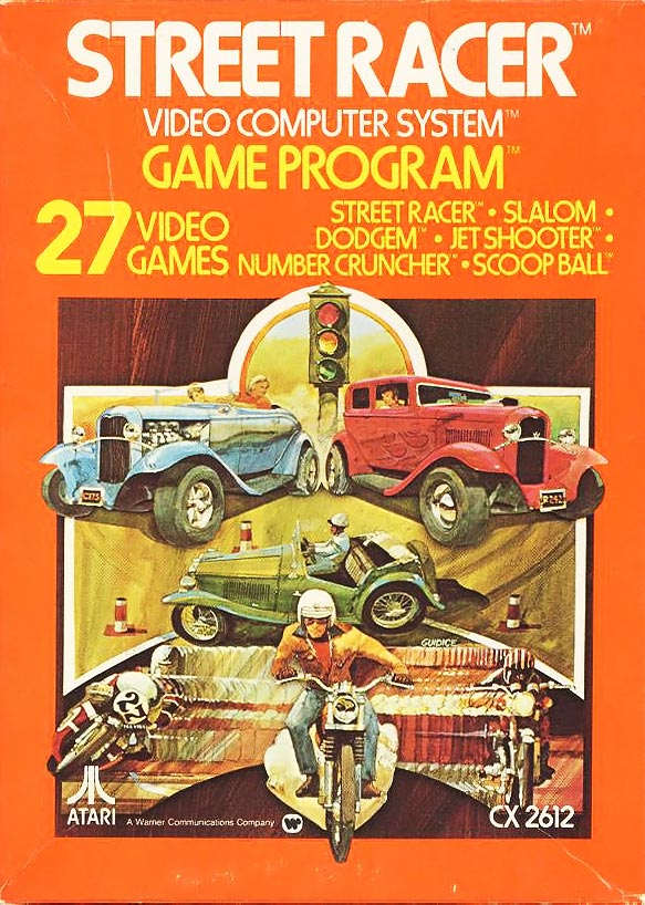 Street Racer, a launch title for the Atari VCS video game console