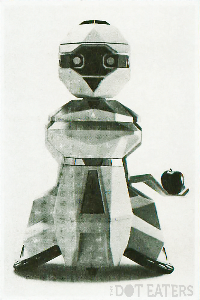 Topo, a consumer robot from Nolan Bushnell and Androbot (1983).