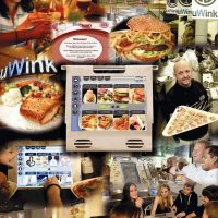 Cover of prospectus for uWink, an electronic dining experience founded by Nolan Bushnell, co-founder of Atari