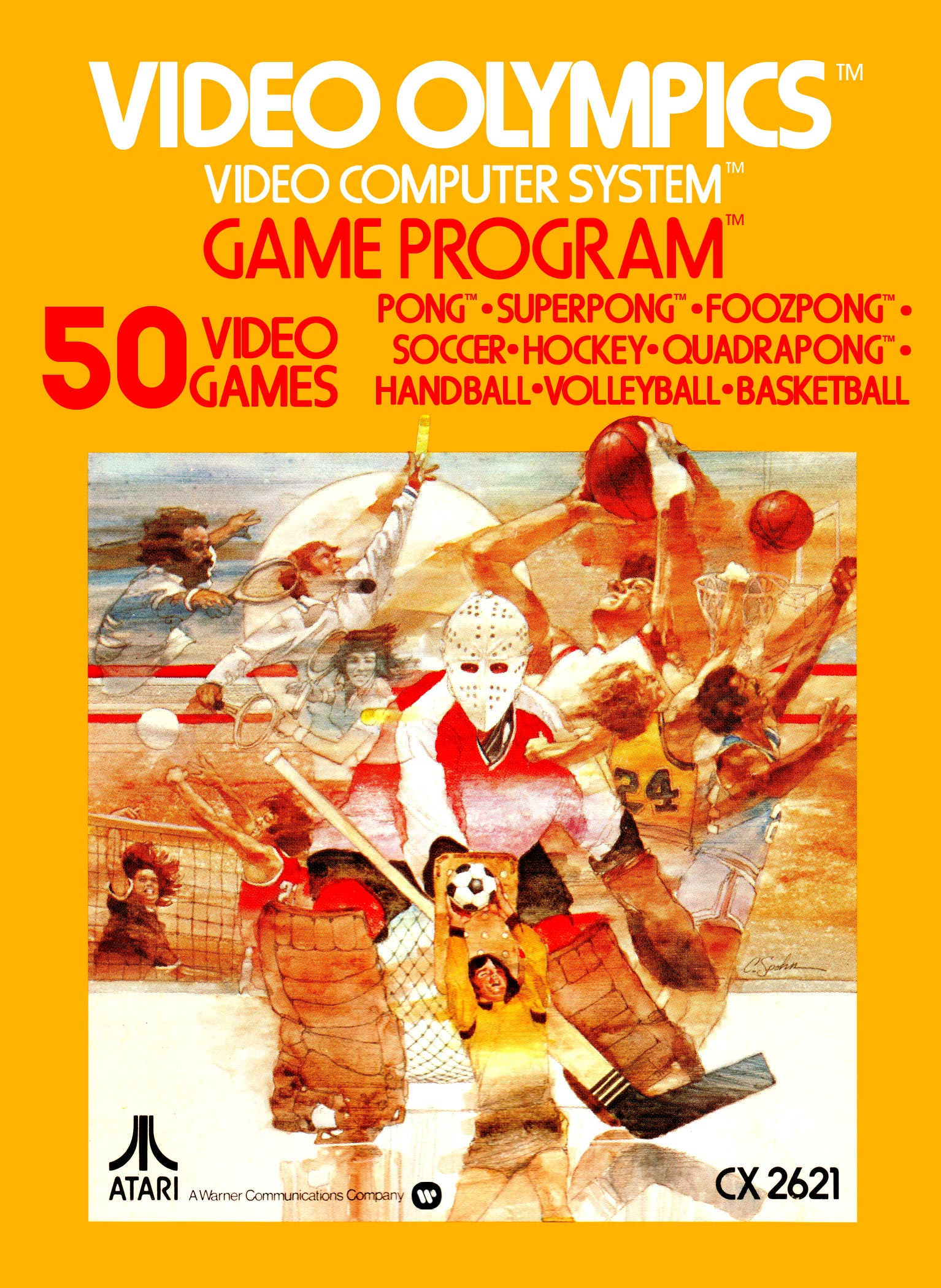 Video Olympics, for the Atari VCS home video game console