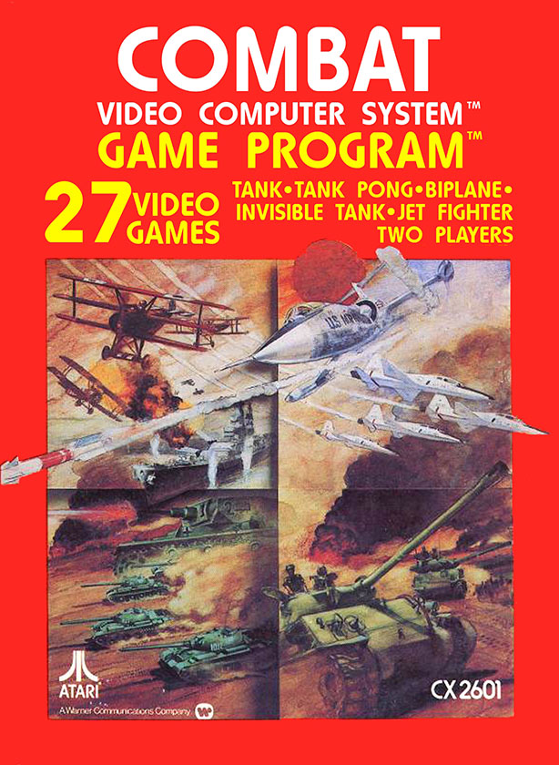 Box art for Combat, a video game by Atari 1977