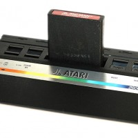 Image of the Atari 2600 Jr., a home video game system 1985