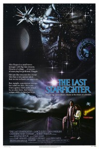 Poster for The Last Starfighter, a video game themed movie by Universal 1984