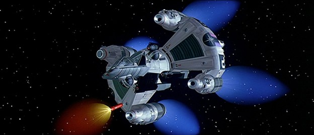 Still featuring the Gunstar from The Last Starfighter, a video game themed movie by Universal 1984