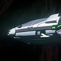 Still of the Star Car from The Last Starfighter, a video game themed movie by Universal 1984