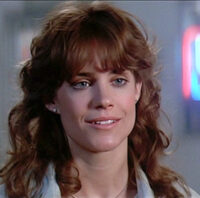 Still featuring Catherine Mary Stewart as Maggie Gordon in The Last Starfighter, a video game themed movie by Universal 1984