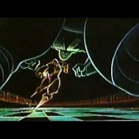 Concept art from Tron, a video game movie by Disney 1982
