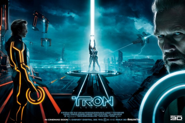 Poster for Tron Legacy, a film by Disney 2010