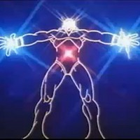 A still featuring the first version of the character Tron, Lisberger Studios