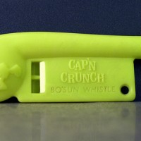 "Image of a toy bosun whistle, of the type used by notorious hacker John ""Captain Crunch"" Draper"