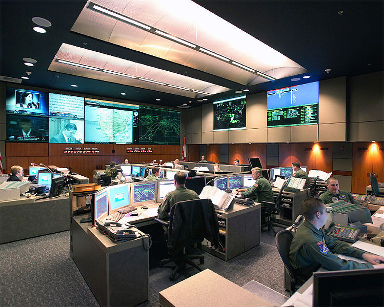Photo of the real NORAD Command Center, 2005