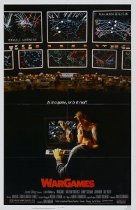Poster for WarGames, a video game themed movie by United Artists 1983