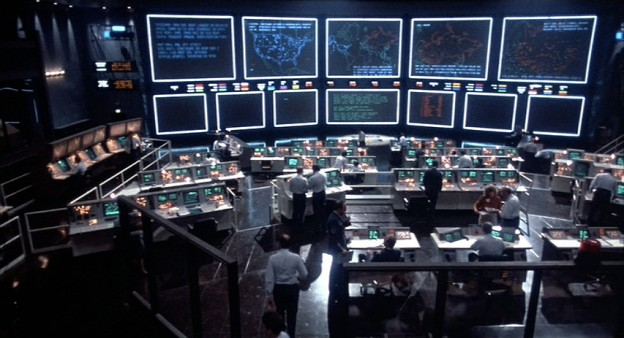 Still featuring the war room set from WarGames, Universal 1983