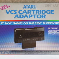 2600 cartridge adapter for the 5200, a home video game console by Atari 1982
