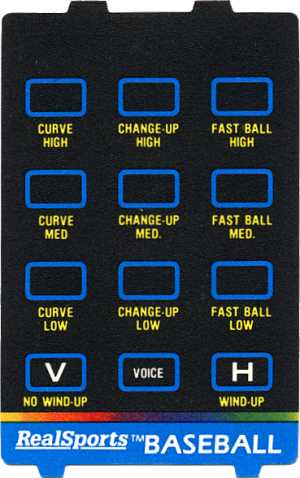 Image of a controller overlay for the 5200, a home video game system by Atari 1982