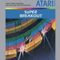 Super Breakout box art, a video game for the Atari 5200
