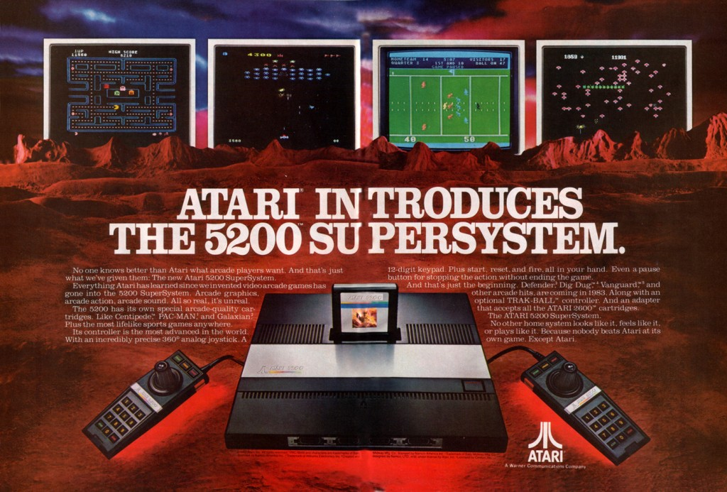 An ad for the 5200 Supersystem, a home video game system by Atari 1982