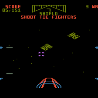 Screenshot of Star Wars: The Arcade Game, a home video game for the 5200 by Parker Brothers 1983
