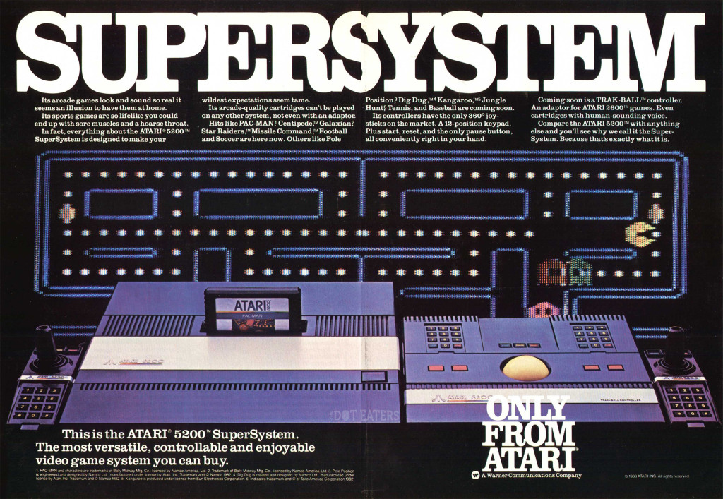 1983 ad for Atari's 5200 Supersystem video game console